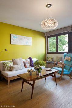 Des couleurs douces et des matières naturelles pour un intérieur reposant. #dccv #cosy #cocooning