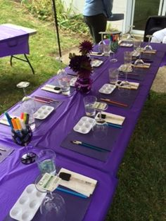 Bridal Shower Table Setting for Painting (Private Party by Wonderfully Made4You)