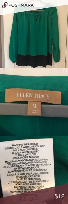 Ellen Tracy green and black tunic Ellen Tracy green and black tunic size M EUC Tops Tunics