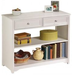 Oxford Two-Drawer Console Table with Open Storage 29.5 h x 35.5 w x 15 deep  d (2 drawer) 3 drawer available 47.5 wide