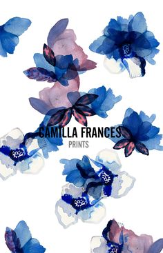 Camilla Frances Prints Lauren B Montana Textile Prints, Textile Patterns, Art Prints, Graphic Patterns, Print Patterns, Floral Illustrations, Surface Pattern Design, Pattern Wallpaper, Flower Prints