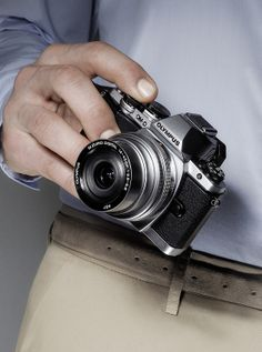 New Olympus OM-D E-M10 in hand