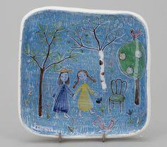 VÄGGPLATTA, keramik, Rut Bryk, Arabia, signerad och daterad även a tergo. Ceramic Wall Art, Ceramic Pottery, Ceramic Artists, Pottery Ideas, Finland, Clay, Ceramics, Google Search, Fabric