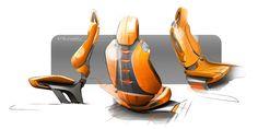 Hyundai Intrado Concept Interior Seats Design Sketches