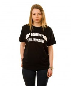 London Trillionaire T-shirt in Black T Shirts For Women, London, Collection, Black, Tops, Fashion, Moda, Black People, Shell Tops
