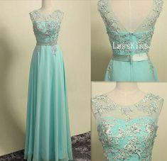 Blue dress premium water soluble handmade flower ball gown