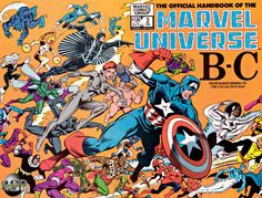 I used to have this entire series of handbooks for the Marvel Universe and you could lay them all out to form one huge piece of art...
