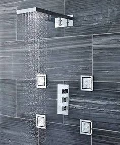 triple valve with diverter and fixer shower head waterfall - Google Search
