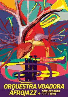 Orquestra Voadora + AfroJazz + Soul de Santa. Arte: Donasc