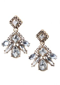 These versatile sparkly crystal statement earrings are so elegant that these can be worn with a formal dress or a simple pair of jeans. Style these with any color you wish and any style of clothing you wish. ==