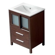 Check out the Vigo VG09019118K1 Alessandro Single Bathroom Vanity in Wenge - Vanity Top Included priced at $799.90 at Homeclick.com.
