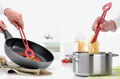 julian appelius - chef2 spoon tongs    http://www.designboom.com/design/chef2-spoon-tongs-by-julian-appelius-for-koziol/