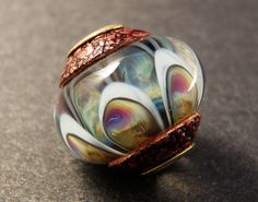 Lampwork Art Glass Big Hole Bead  Pale Blue & by PeggySudzLampwork, $28.00