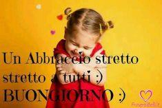 a tight tight hug everyone :) good morning Italian Memes, Italian Quotes, Italian Online, Italian Greetings, Tight Hug, Italian Phrases, Online Tutoring, Italian Language, Day For Night