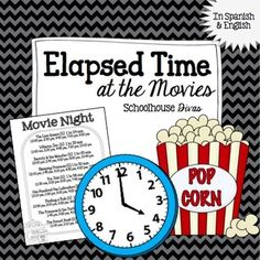 FREE Elapsed Time Worksheet!Students use a real world concept, movie theater times, in order to explore concepts of elapsed time.  In this activity, students read the sample movie times and answer questions about beginning and ending times.This worksheet comes in both English and Spanish.For more elapsed time...Elapsed Time Task Cardsor our bilingual products!Spanish ResourcesBe the first to know about sales and freebies!