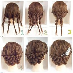 DIY Peinados Más Church Hairstyles, Graduation Hairstyles, Teen Hairstyles, Braided Hairstyles Updo, Classic Hairstyles, Simple Wedding Hairstyles, Updos, Easy Hairstyles For Long Hair, Medium Hairstyles