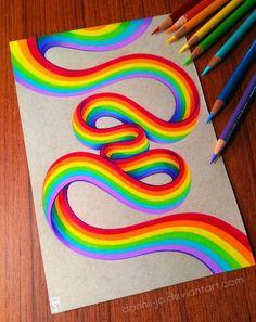 Rainbow Ribbon by dannii-jo - - Rainbow Ribbon by dan . - Rainbow Ribbon by dannii-jo – – Rainbow Ribbon by dan … – me. Cool Art Drawings, Pencil Art Drawings, Realistic Drawings, Art Drawings Sketches, Colorful Drawings, Horse Drawings, Drawing Art, Doodle Art, Arte Sharpie