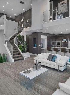 House Interior Design Ideas - Home Design Dream Home Design, Modern House Design, Modern Interior Design, Contemporary Interior, Interior Design For Living Room, Contemporary Houses, Kitchen Contemporary, Simple Interior, Small House Design