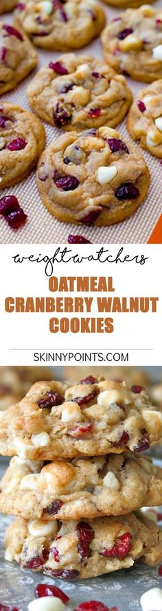Oatmeal Cranberry Walnut Cookies - Weight watchers SmartPoints