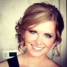 Prom hair side updo #hair #makeup #beautiful #love #prom