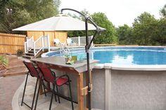 Backyard Pool And Spa, Pool Fun, Diy Pool, Swimming Pools Backyard, Above Ground Pool Landscaping, Backyard Pool Landscaping, Barn Pool, Decks Around Pools, Pool Deck Plans
