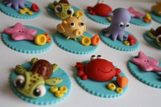 Fondant Under Water Cupcake Toppers by KimSeeEun on Etsy