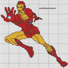 Súper Hero cross stitch 4-17