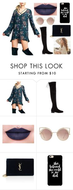 """Sem título #42"" by ab-roberts on Polyvore featuring moda, Stuart Weitzman, Jeffree Star, MANGO, Yves Saint Laurent e Repeat Cashmere"