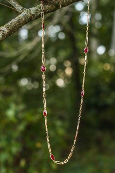 Reddress // Together Again Necklace-Garnet - $22.00