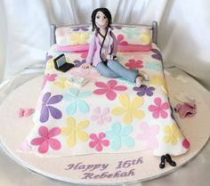 16th Birthday Bed Cake | Flickr - Photo Sharing!