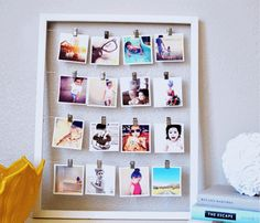 Decorar con fotos sujetas por pinzas (easy & trendy) 10