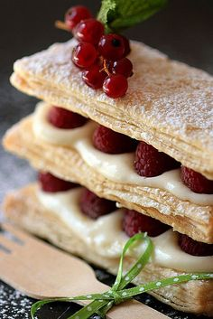 Lemon Raspberry Mille Feuilles