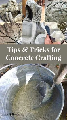 Tips and Tricks for Concrete Crafting - instructions to make concrete easy