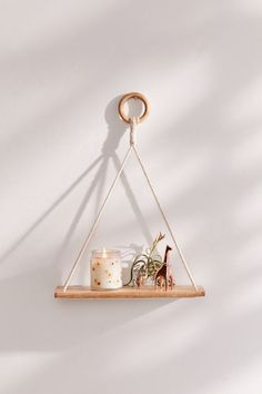Shop Elie Macramé Hanging Shelf at Urban Outfitters today. We carry all the latest styles, colors and brands for you to choose from right here. Diy Hanging Shelves, Wall Shelves, Floating Shelves, Storage Shelving, Urban Outfitters, Wall Decor, Room Decor, Cute Dorm Rooms, Wooden Hangers