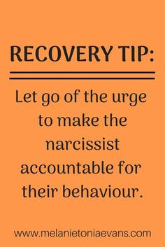Truth You must understand that there is no way to make the narcissist accountable and trying to is one of the greatest hooks that are keeping you stuck in abuse Learn m. Narcissistic People, Narcissistic Mother, Narcissistic Behavior, Narcissistic Abuse Recovery, Narcissistic Sociopath, Narcissistic Personality Disorder, Narcissistic Supply, Ptsd Recovery, Abusive Relationship