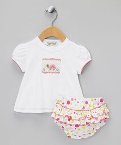 Look what I found on #zulily! Pink & Green Turtle Tee & Ruffle Diaper Cover - Infant by Classy Couture #zulilyfinds