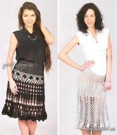 Crochet skirts ♥LCS-MRS♥ with diagrams.