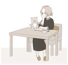 tomatoro's Illustration & Art images from the web Amazing Drawings, Cute Drawings, Kawaii Art, Kawaii Anime, Anime Art Girl, Manga Art, Wallpaper Kawaii, Human Art, Cute Illustration