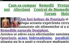 PSORIAZIS-CORESPONDENTA DENIPLANT: Foloseste Deniplant pentru psoriazis Plant