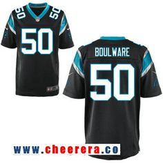 Men's Carolina Panthers #50 Ben Boulware Black Team Color Stitched NFL Nike Elite Jersey