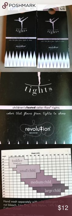 Revolution dancewear children's tights dance These are brand new in the package from a smoke and pet free home. Color is suntan - these are footed tights. revolution dancewear Accessories Socks & Tights
