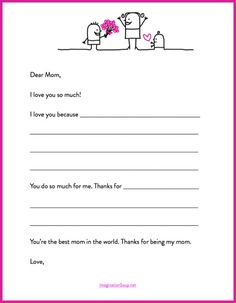 mothers day template Heres a Quick Mothers Day Gift   a Printable Letter Template