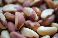 So how calories did that handful of nuts just cost you? - Food & dining - The Boston Globe Brazil nuts  (whole, dried); 218 (7 nuts). Known for their high levels of selenium, most Brazil nuts are harvested in the wild from the towering South American trees of the same name.