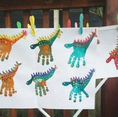 Dinosaur Party - My Kids Party - A creative activity and craft idea for a dinos. - Dinosaur Party – My Kids Party – A creative activity and craft idea for a dinosaur party or fo - Kids Crafts, Baby Crafts, Toddler Crafts, Preschool Crafts, Creative Activities, Craft Activities, Camping Activities, Kid Party Activities, Motor Activities