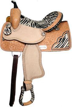 My next tack purchase at Chicks Saddlery - Saddles Tack Horse Supplies - ChickSaddlery.com Double T Zebra Barrel Saddle