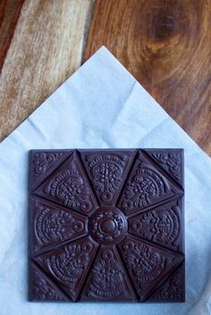 hungarian chocolate made with venezuelan cocoa beans- chocolate gloss painted ceiling tiles