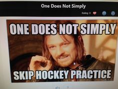 Hockey players do not skip practice