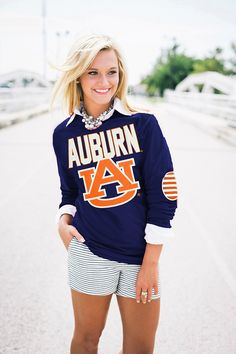 AUBURN ELBOW PATCH TEEi LOVE THIS!!!