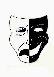 My life can be fully explained by this mask, there are good times and bad times Dark Art Drawings, Pencil Art Drawings, Art Drawings Sketches, Tattoo Drawings, Theater Mask Tattoo, Drama Masks, Clip Art Library, Neck Tattoo For Guys, Masks Art
