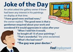 Joke about artist and doctor...this is horrible and I didn't get it at first